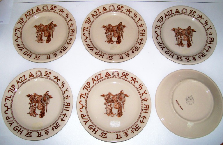 Wallace China Western Cowboy Restaurant Ware 20-Piece Set